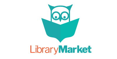 Library Market logo with reading owl